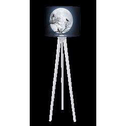 Moon lampa trójnóg drewniana duża Fotolampy