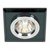 Lampa podtynkowa SS-13 CH/BK czarna Candellux