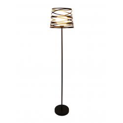 Akita lampa podłogowa czarna 50501059 Ledea