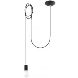 Edison lampa wisząca czarna SL0369 Sollux