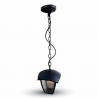 Lampa wisząca ogrodowa czarna VT-735 V-TAC