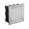 Mur Led Inox lampa do zabudowy D04 SU-MA