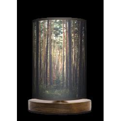 Las lampa stołowa drewniana mała Fotolampy