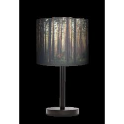 Las lampa stołowa drewniana duża Fotolampy