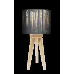 Las lampa trójnóg drewniana mała Fotolampy