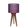 Rattan trójnóg lampka drewniana mała Fotolampy