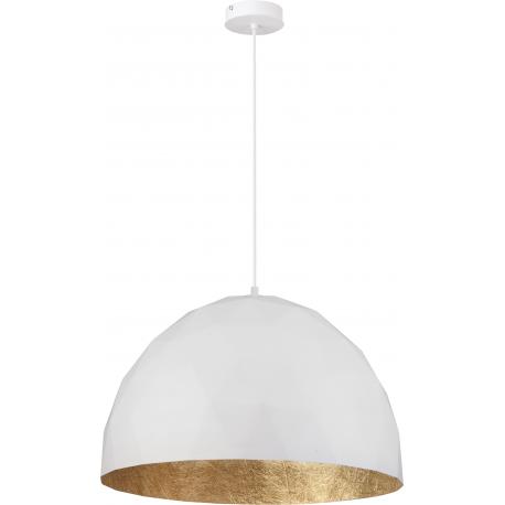 Diament lampa wisząca L biały/złoty