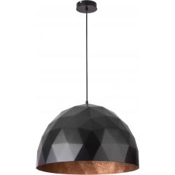 Diament lampa wisząca L czarnyy/miedziany