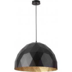 Diament lampa wisząca L czarnyy/złoty