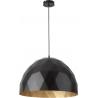 Diament lampa wisząca L czarny/złoty 31367 Sigma
