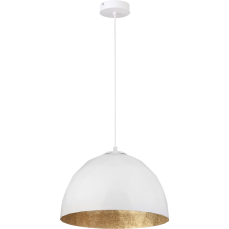 Diament lampa wisząca M biały/złoty