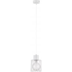 Luto Kwadrat lampa wisząca 1 biały