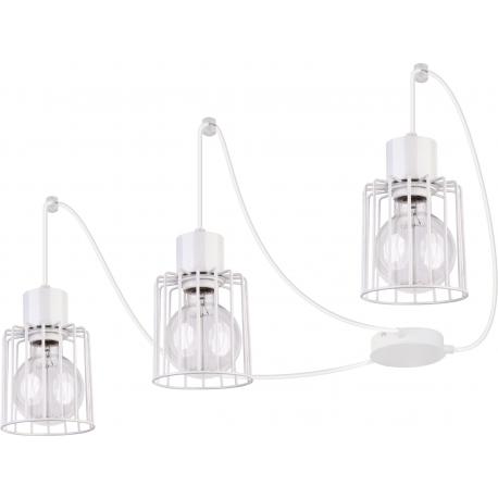 Luto Kwadrat lampa wisząca 3 biała