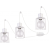 Luto Kwadrat lampa wisząca 3 biała 31140 Sigma