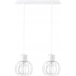 Luto Koło lampa wisząca 2 biała