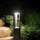 Fan lampa stojąca duża ciemny popiel