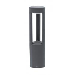 Fan lampa stojąca średnia ciemny popiel