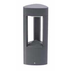 Fan lampa stojąca mała ciemny popiel