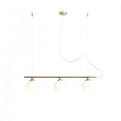 Beryl Glass Gold lampa wisząca 1006E30 Aldex