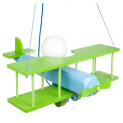 Samolot lampa wisząca zielona Hellux