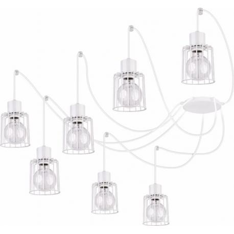 Luto Kwadrat lampa wisząca 7 biała