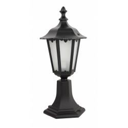 Retro midi lampa stojąca mała czarna
