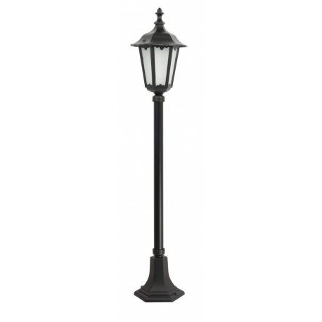 Retro midi lampa stojąca duża czarna
