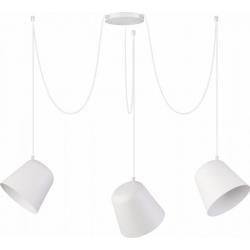 Jawa lampa wisząca 3 biała