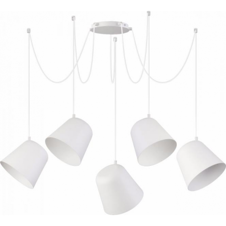 Jawa lampa wisząca 5 biała