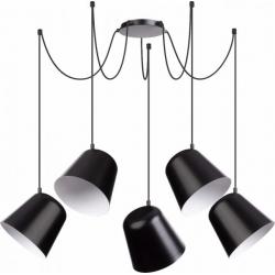 Jawa lampa wisząca 5 czarna