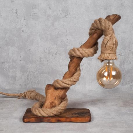Lampka z drewna IV Retro drewno