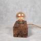 Lampka z drewna II Retro Drewno