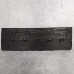Wieszak z drewna ciemny Retro Drewno