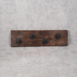 Wieszak z drewna z kołnierzykami Retro Drewno