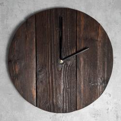 Zegar drewniany ciemny Retro Drewno