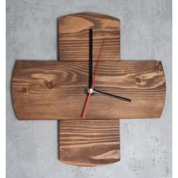 Zegar drewniany X Retro Drewno