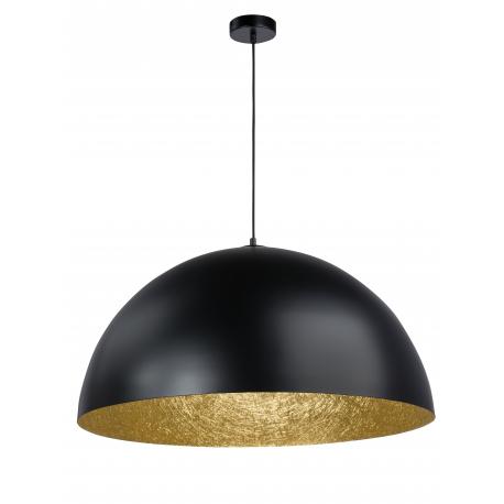 Sfera lampa wisząca czarny/złoty 50