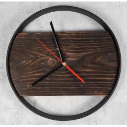 Zegar drewniany opalony Retro Drewno