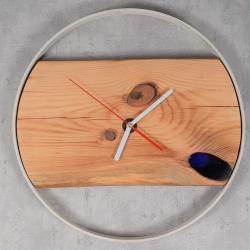Zegar drewniany z żywicą Retro Drewno