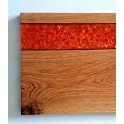 Deska dębowa do serwowania z żywicą Retro Drewno