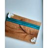 Deska do serwowania dębowa z żywicą Retro Drewno