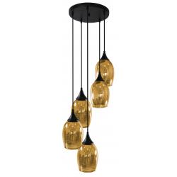 Marina lampa wisząca złota 35-58027 5 żarówek