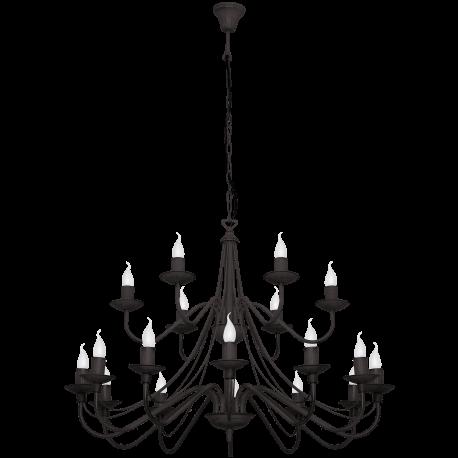 Róża czarna lampa wisząca