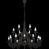 Róża czarna lampa wisząca 397S1 Aldex