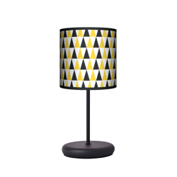 Fotolampa Black and yellow - lampa stojąca Eko