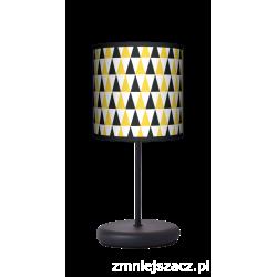 Fotolampa Black and yellow - lampa stojąca Eko