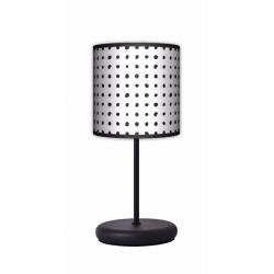 Fotolampa Czarne kropki - lampa stojąca Eko