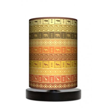 Fotolampa Afryka - lampa stojąca mała wenge