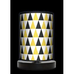 Fotolampa Black and yellow - lampa stojąca mała wenge
