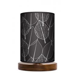 Fotolampa Czarny las - lampa stojąca mała orzech